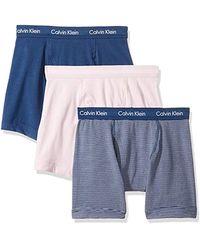 Calvin Klein - Cotton Stretch 3 Pack Boxer Briefs - Lyst