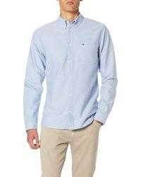 Tommy Hilfiger TJM Solid Poplin Shirt Camisa Casual para Hombre - Blanco