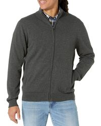 Amazon Essentials Full-zip Cotton Jumper - Grey