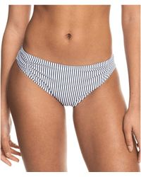 Roxy Printed Beach Classics Full Bikini Bottom Bas - Bleu