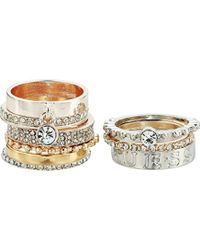 Guess - S Nine-piece Band Stacker Set Ring - Lyst