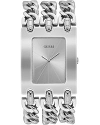 Guess Analogue Quartz Watch With Stainless Steel Strap W1218g1 - Black
