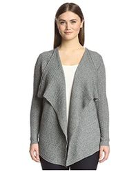 SOCIETY NEW YORK - Cable Cascade Cardigan Sweater - Lyst