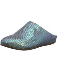 Fitflop Chrissie Sequin Open Back Slippers - Blue