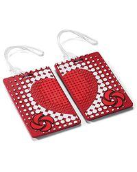 Samsonite Designer Luggage Id Tags-true Love (pair) - Red