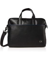 Calvin Klein Ck Direct Slim Laptop Bag - Noir