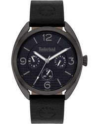 Timberland S Analogue Quartz Watch With Leather Strap Tbl15631jyu.03 - Black
