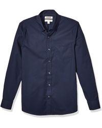 Goodthreads Slim-fit Long-Sleeve Stretch Poplin - Bleu