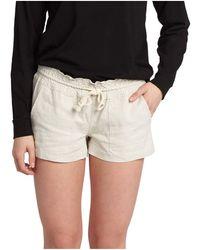 Roxy Oceanside Short Elastic Waist Non Denim Shorts - White
