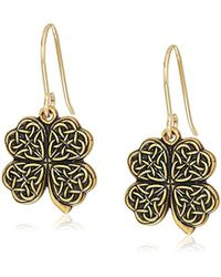 ALEX AND ANI - S Four Leaf Clover Hook Drop Earrings, Rafaelian - Lyst