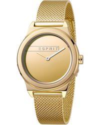 Esprit S Analogique Quartz Montre avec Bracelet en Acier Inoxydable ES1L019M0085 - Métallisé