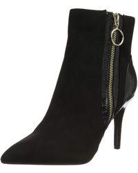 Dorothy Perkins Allice Croc Mix Ankle Boots - Black