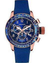Nautica Horloge NAI28500G - Bleu