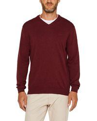 Esprit 999ee2i804 suéter - Rojo