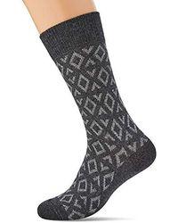 Esprit Norwegian Piqué Socks, Opaque (pack Of 3 - Black