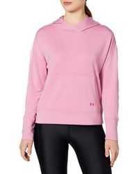 Under Armour Ua Rival Terry Taped Hoodie - S - Pink