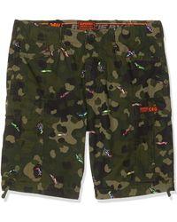 Superdry Pantalones cortos militares Rookie Edition Parachute - Verde
