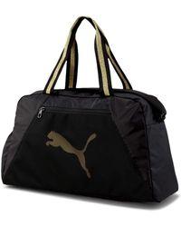 PUMA At Ess Grip Bag Sporttasche black-bright gold - Schwarz