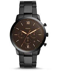 Fossil Chronograph Quarz Uhr mit Edelstahl Armband FS5525 - Schwarz