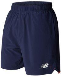 New Balance England 7in Training Shorts Xxlarge - Blue