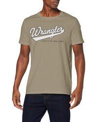 Wrangler - SS Logo Tee T-Shirt - Lyst