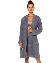 Iris & Lilly Amazon-Marke: Kurzer Frottier-Hausmantel - Grau