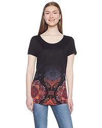 Desigual TS_Leonor Camiseta para Mujer - Negro