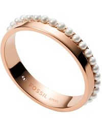 Fossil JF03655791-8 Ladies Ring - Metallizzato