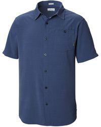 Columbia Mossy TrailTM Short Sleeve Shirt Maglietta da Uomo - Blu