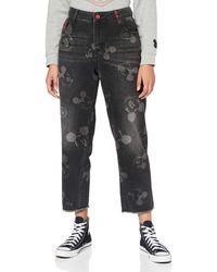 Desigual Misses Denim Overall Trousers - Blue