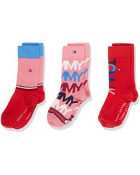 Tommy Hilfiger Th Kids Sock 3p Giftbox Calcetines - Rosa
