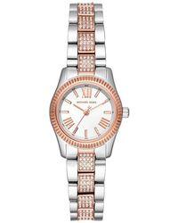 Michael Kors - Lexington Three-Hand Silver-Tone Stainless Steel Watch MK3876 - Lyst