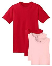 Hanes 6-pack Freshiq Crew T-shirt - Red