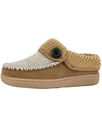 Clarks Removable Plush Comfort Footbed -Indoor Outdoor Slippers For - Mettallic