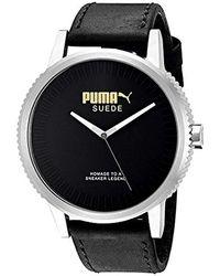 82bdd5e400bc PUMA - Unisex Pu104101001 Suede Limited Edition Analog Display Watch - Lyst
