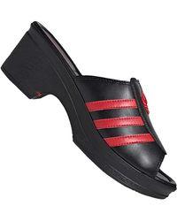 adidas Originals Lotta Volkova Trefoil Mule Sandals Clocs Fx8460 Black Red Black