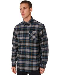adidas Skateboarding Flex Flannel Shirt Dh3861 In Core Heather/collegiate Navy/tactile Yellow - Blue