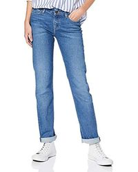 Lee Jeans Marion Straight Jeans Donna - Blu
