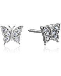 Tai - Butterfly Post Stud Earrings - Lyst