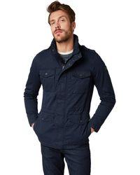 Tom Tailor Für Männer Jacken & Jackets Übergangsjacke mit Stehkragen Knitted Navy - Blau