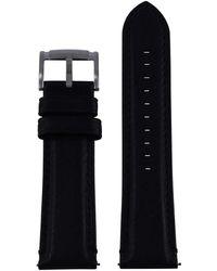 Fossil Orologio Band Swing Arm Band LB di ME3053 ricambio originali Band Me 3053 Orologio Bracciale in pelle 22 mm Nero