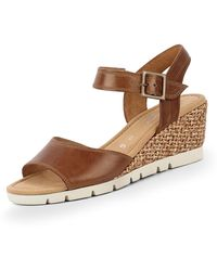 Gabor - Comfort Sandalette Größe 37.5 EU Braun (braun) - Lyst