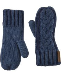 Timberland S Plaited Cable Mittens - Blue