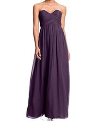 Donna Morgan Lauren Sweetheart Chiffon Gown - Purple
