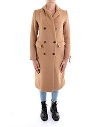 Scotch & Soda Long Double Breasted Tailored Wool Coat Giacca Donna - Neutro
