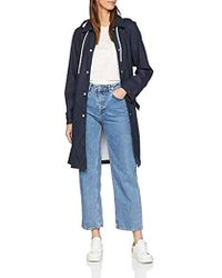 Tommy Hilfiger Britt Hooded Trench Coat - Blue
