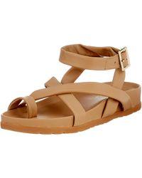 Vero Moda VMHELO Leather Sandal - Marrone