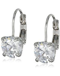 "Cole Haan - ""cz Basics"" Cubic Zirconia Lever Back Drop Earrings - Lyst"