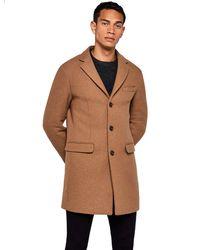 FIND Coat In Longline Wool - Brown