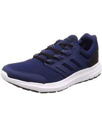adidas Galaxy 4 Mens Running Shoes Blue | Start Fitness